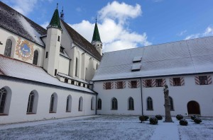 Engelgarten Nordostecke mit etwas Schnee Dez 2017