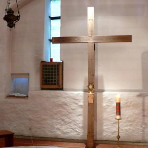 Helenakapelle neues Kreuz Quadratbild Febr 2013