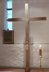 eucharistische Anbetung mit neuem Kreuz Helenakapelle Jan 2013