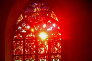 mystisch rotes Licht Ostfenster Lightroom